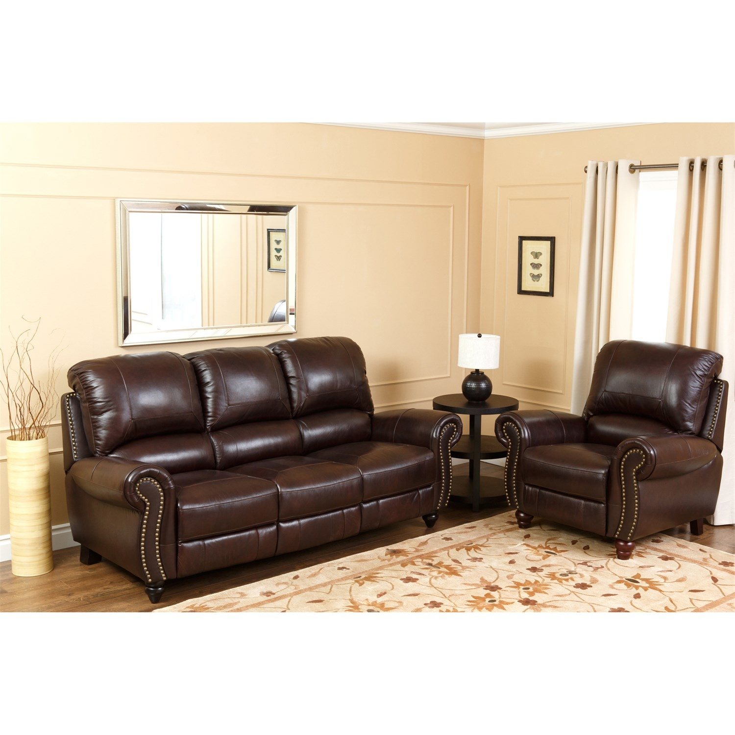 Abson Living Ch 8857 Brg 31 Canterbury Leather Pushback Regarding Canterbury Leather Sofas (Image 2 of 15)