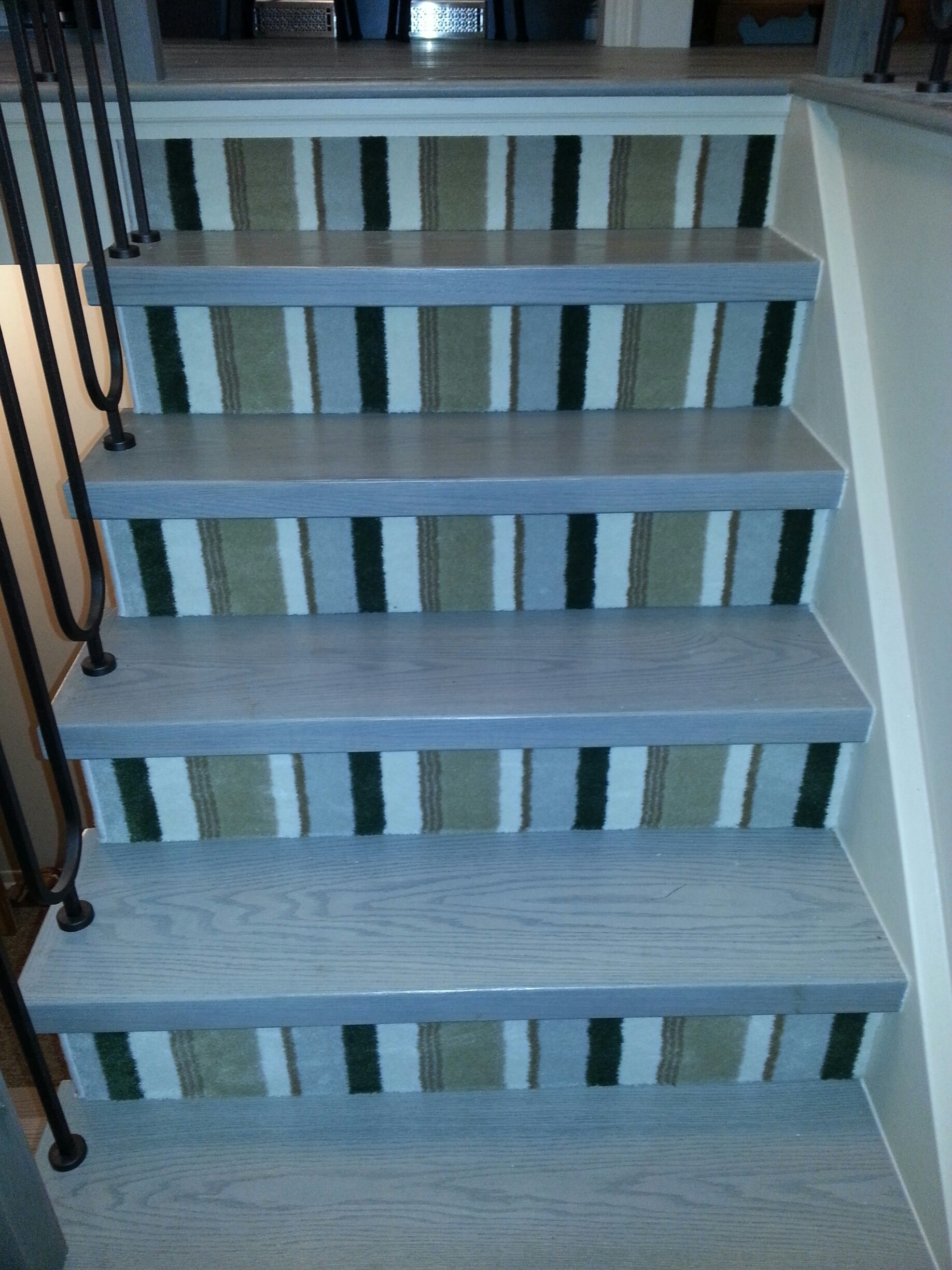 Accessories Exciting Striped Stair Carpet Treads For Elegant Pertaining To Removable Carpet Stair Treads (Image 2 of 15)