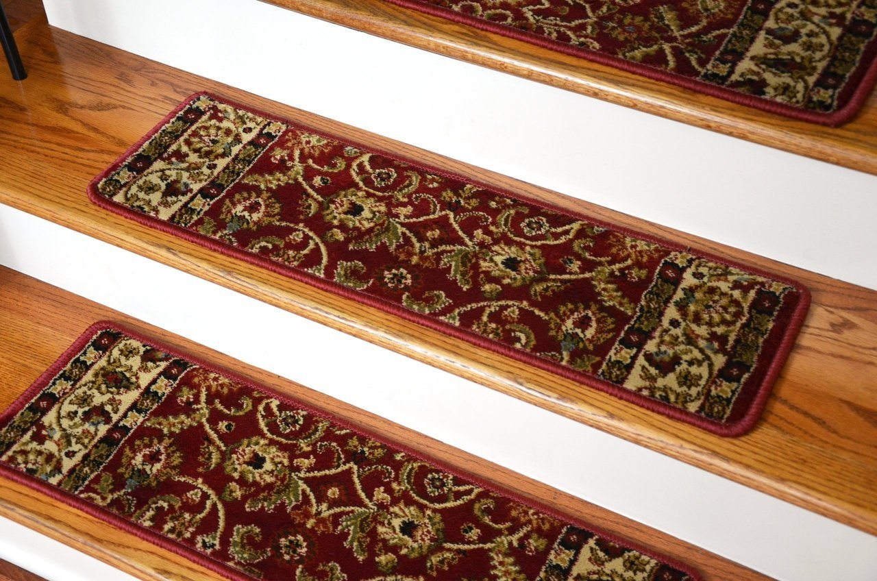 Accessories Oriental Carpet Stair Treads With Landing Mats And Pertaining To Oriental Carpet Stair Treads (Image 1 of 15)