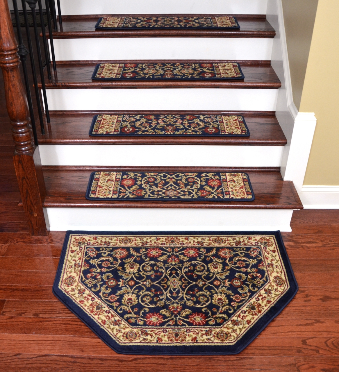 Accessories Oriental Carpet Stair Treads With Wooden Flooring And With Regard To Oriental Carpet Stair Treads (Image 3 of 15)