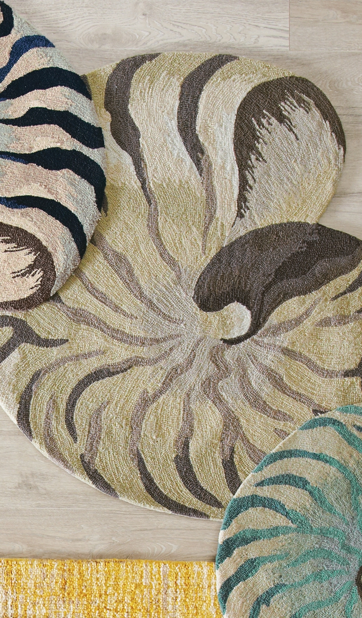 Add A Splash Of Seaside Style With Our Spiraling Shell Shaped Rug Intended For Seaside Rugs (View 10 of 15)