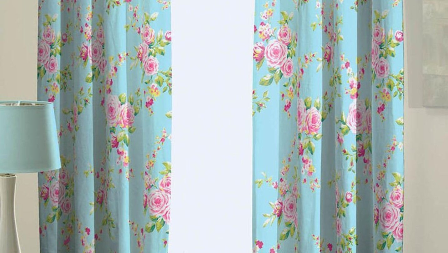 Admirer Linen Blackout Curtains Tags Teal Bedroom Curtains Teal Inside Patterned Blackout Curtains (View 17 of 25)