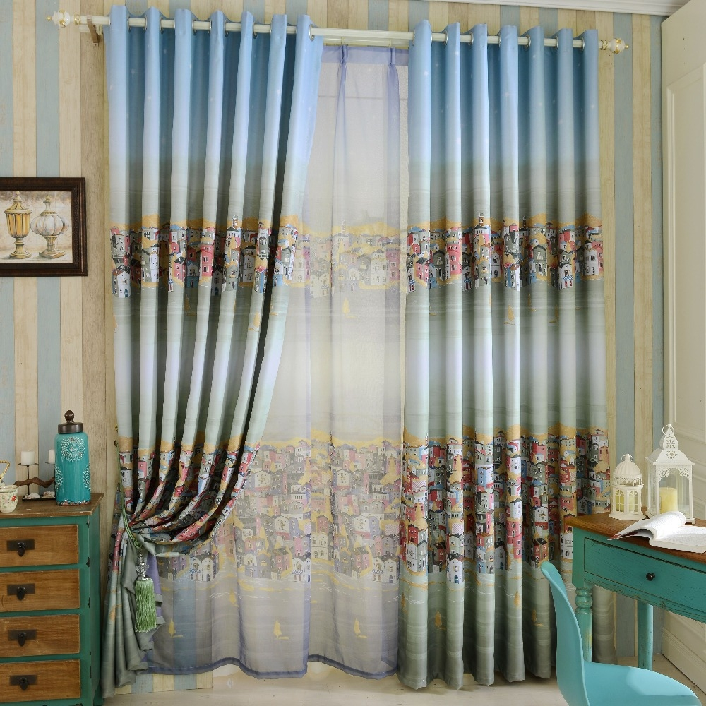Admirer Linen Blackout Curtains Tags Teal Bedroom Curtains Teal Within Patterned Blackout Curtains (View 12 of 25)
