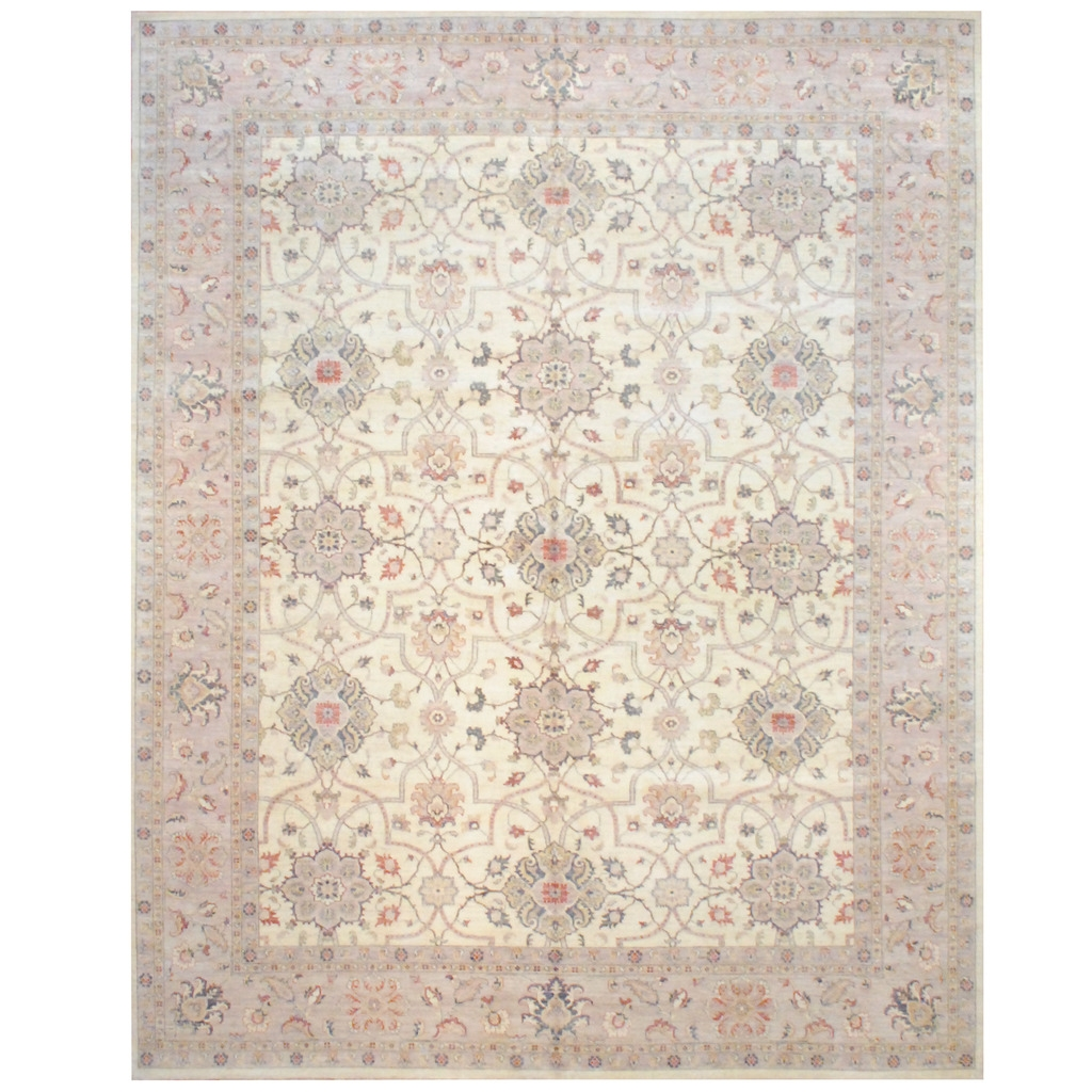 Afghan Hand Knotted Vegetable Dye Wool Rug 12 X 15 Herat Throughout Knotted Wool Rugs (Image 3 of 15)