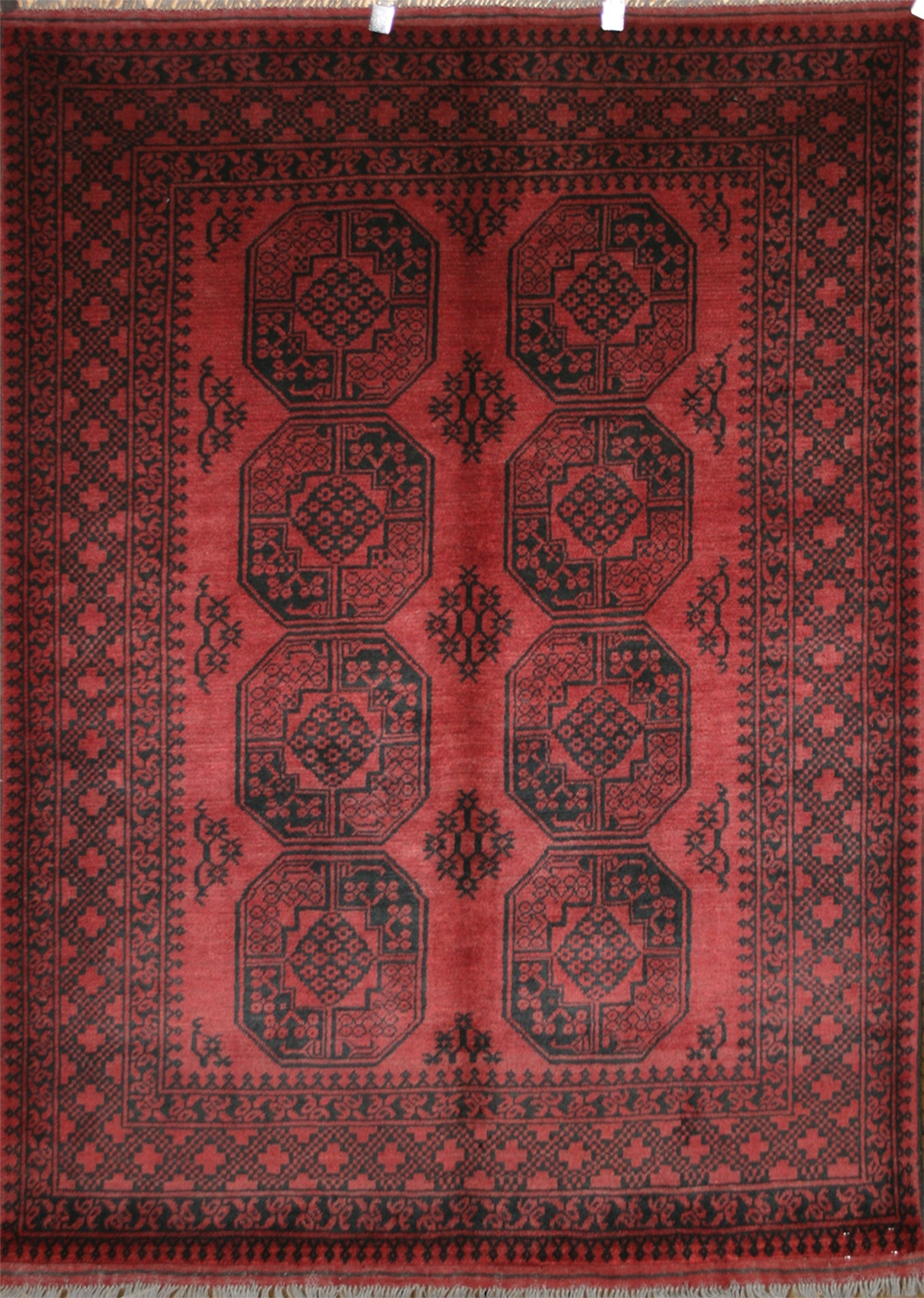 Afghan Red Rugs Aqcha Rugs Origin And Description Guide Within Afghan Rug Types (Image 4 of 15)
