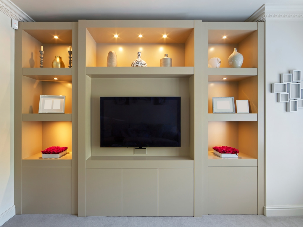 Alcove Units Custom Alcove Units Bookcases In Ireland Pertaining To Bespoke Tv Cabinets (Image 1 of 15)