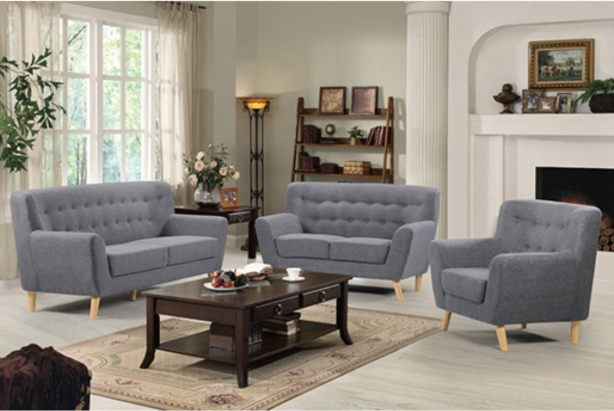 Alenya Sofa Set Charcoal Grey In Las Vegascharcoal Grey Sofa Set With Regard To Charcoal Grey Sofa (Image 1 of 15)