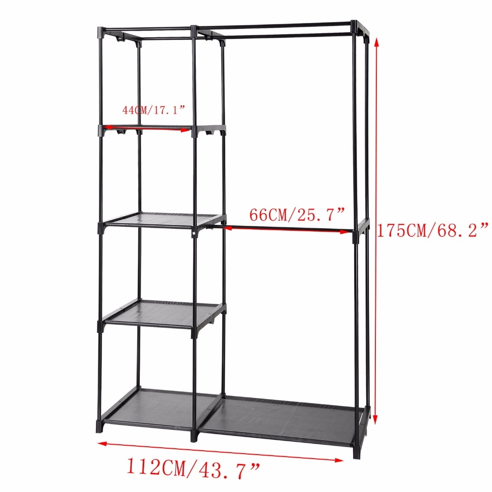 Aliexpress Buy Homdox Non Woven Folding Wardrobe Shelves With Regard To Hanging Wardrobe Shelves (Image 7 of 25)
