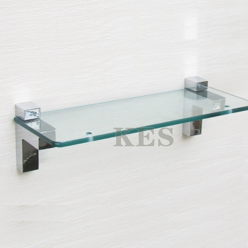 Aliexpress Buy Kes Hsb301a P2 Solid Metal Adjustable Wood Throughout Glass Wall Mount Shelves (View 13 of 15)