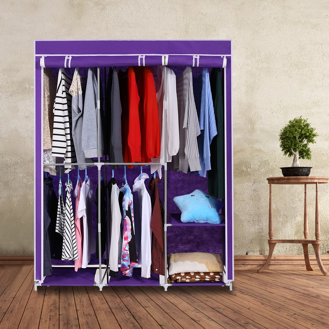 Aliexpress Buy Modern Style Home Diy Portable Closet Storage Pertaining To Wardrobe Hangers Storages (Image 3 of 25)