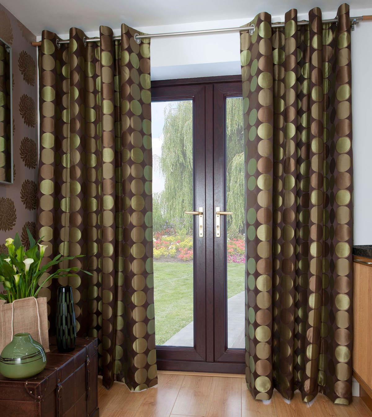 Aloe Jasper Ready Made Eyelet Curtains Free Uk Delivery Terrys Intended For Brown Eyelet Curtains (Image 1 of 25)