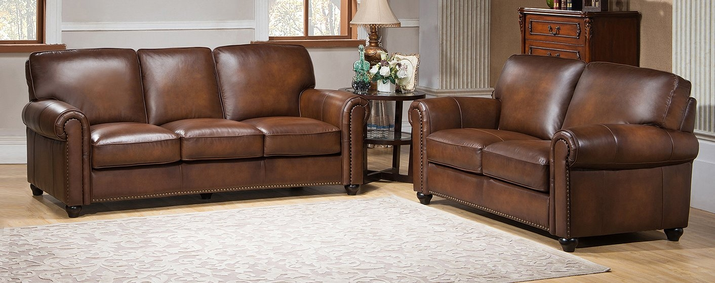 Amax Aspen Leather Sofa And Loveseat Set Reviews Wayfair In Aspen Leather Sofas (Image 1 of 15)