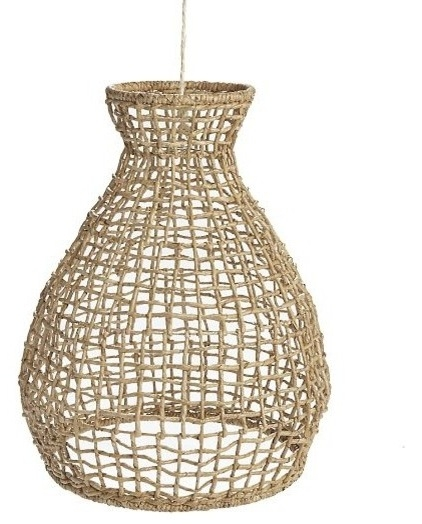 Amazing Best Beachy Pendant Lighting Regarding Tropical Pendant Lighting Woven Seagrass Pendant Coastal Decor (Image 1 of 25)