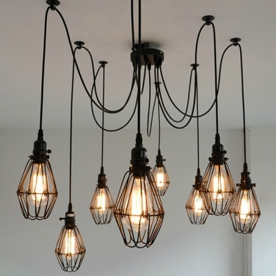 Amazing Best Multiple Pendant Light Fixtures Inside Fashion Style Multi Light Pendants Industrial Lighting (View 6 of 25)