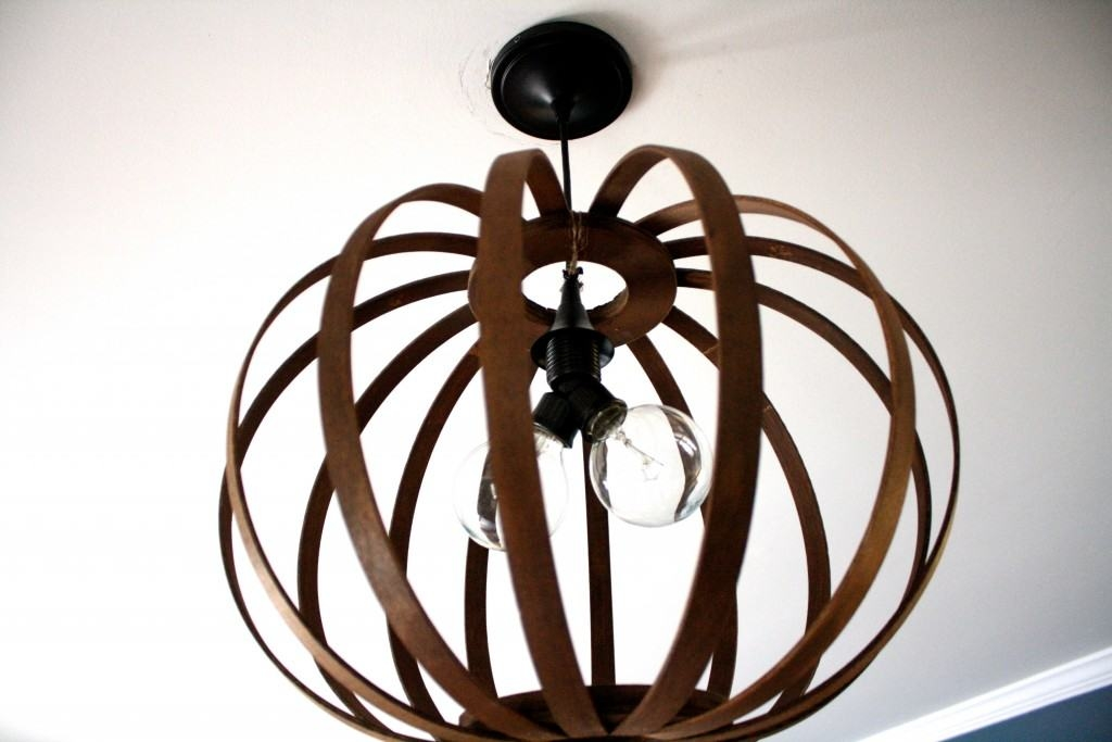 Amazing Brand New Bent Wood Pendant Lights Within West Elm Knock Off Diy Bentwood Pendant Tutorial Designer (Image 1 of 25)