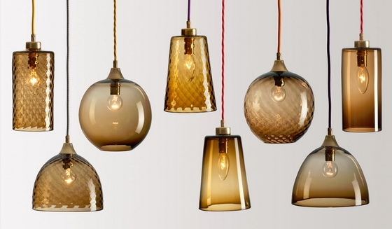 Amazing Brand New Brown Glass Pendant Lights Within Brown Glass Pendant Lights Tequestadrum (Image 3 of 25)