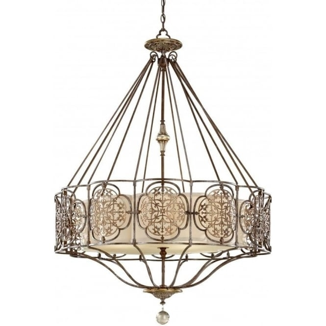 Amazing Brand New Edwardian Pendant Lights Intended For Decorative Bronze Fretwork Chandelier Style Ceiling Pendant Light (Image 1 of 25)