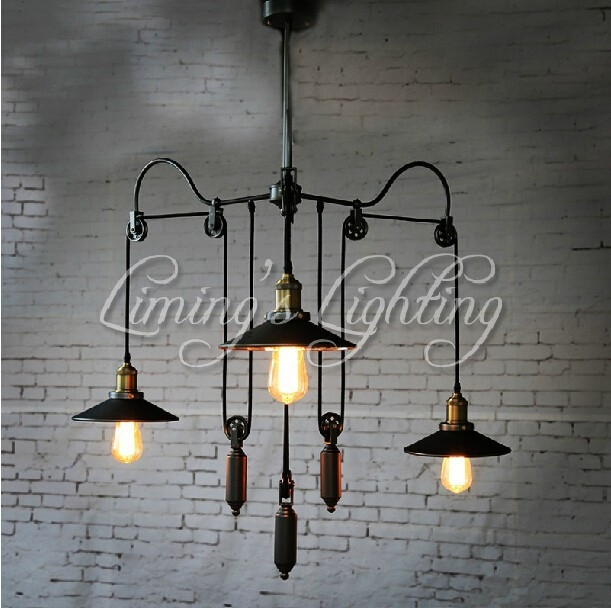 Amazing Brand New Pulley Pendant Lights Within Pulley Pendant Light 3 Promotion Shop For Promotional Pulley (Image 2 of 25)