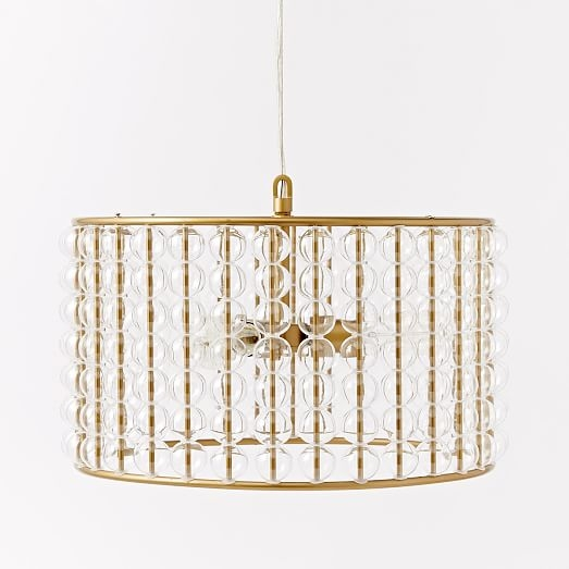 Amazing Brand New West Elm Drum Lights With Marney Glass Chandelier Drum West Elm (Image 1 of 25)