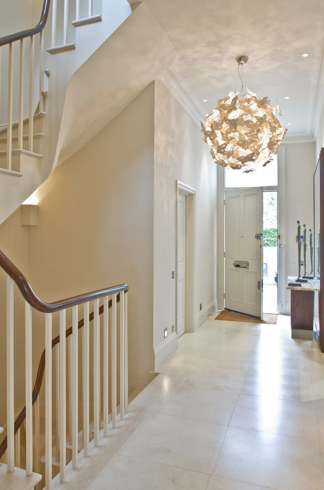 Amazing Common Entrance Hall Pendant Lights With Regard To Private Residential London Entry Contemporary With Entrance Hall (Image 2 of 25)