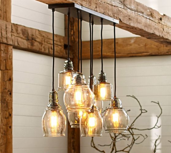 Amazing Common Paxton Pendant Lights For Paxton Glass 8 Light Pendant Pottery Barn For Over Dining Table (Image 1 of 25)