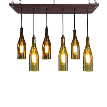 Amazing Common Wine Bottle Pendant Lights With Shop Wine Chandelier On Wanelo (View 18 of 25)