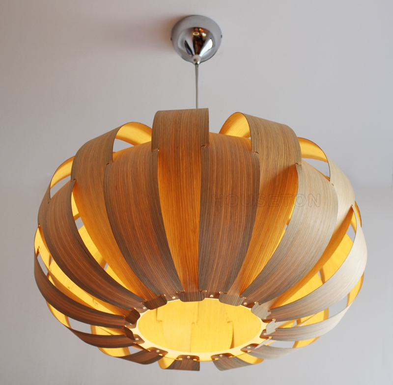 Amazing Common Wood Veneer Lighting Pendants Pertaining To Wood Veneer Pendant Lamp P1020 55houseton Electric Coltd (View 11 of 25)
