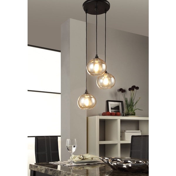 Amazing Deluxe Three Pendant Lights Inside Cool Three Light Pendant Three Light Pendant Pendant Light Design (Image 1 of 25)
