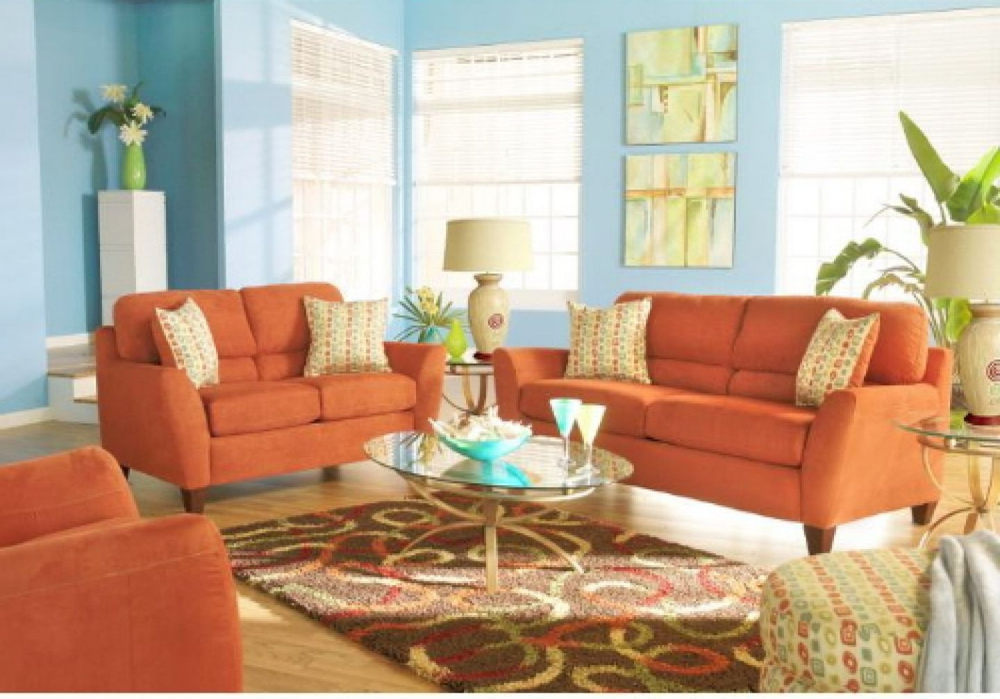 Amazing Design Orange Living Room Furniture Staggering Orange Within Orange Sofa Chairs (Image 3 of 15)