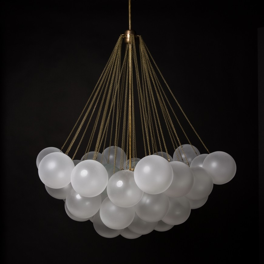 Amazing Elite Glass Orb Pendant Lights Inside Cloud Apparatus (Image 1 of 25)