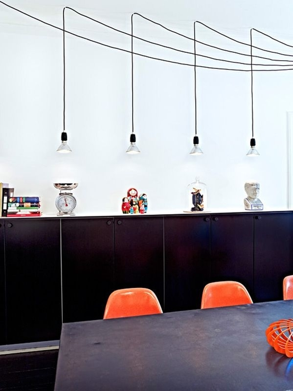 Amazing Famous Bare Bulb Filament Single Pendants Regarding Bare Bulb Lighting Youthfulnest (View 6 of 25)