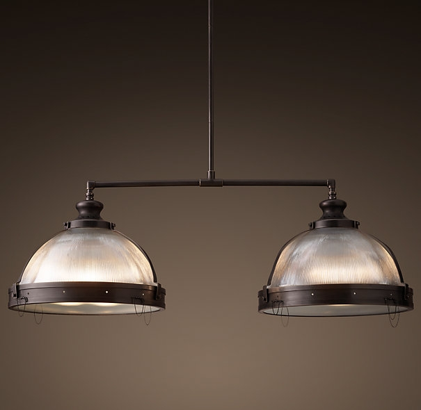 Amazing Famous Double Pendant Lights For Kitchen Regarding Clemson Prismatic Double Pendant Restoration Hardware Our (Image 2 of 25)