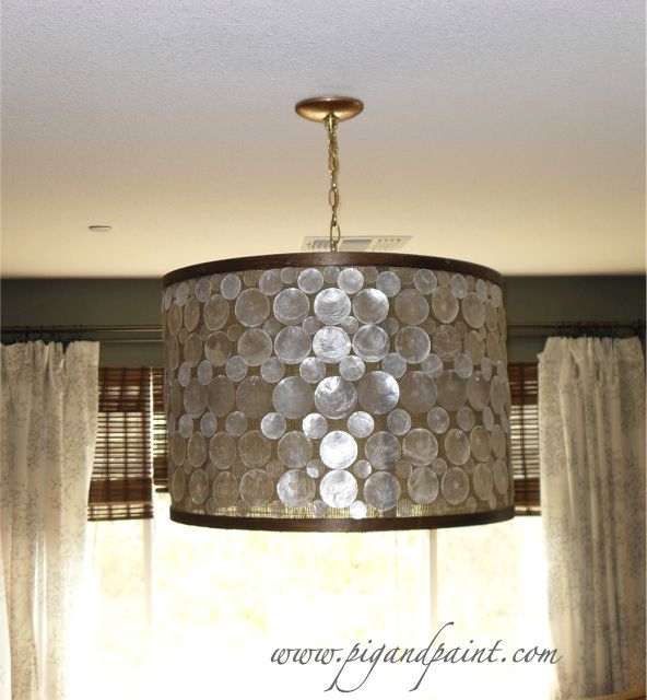 Amazing Favorite Shell Light Shades Pendants Regarding 27 Best Hide Ugly Rental Chandelier Images On Pinterest (View 21 of 25)