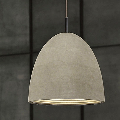 Amazing High Quality Large Dome Pendant Lights Throughout Concrete Large Pendant Light Cast Concrete (Image 2 of 25)