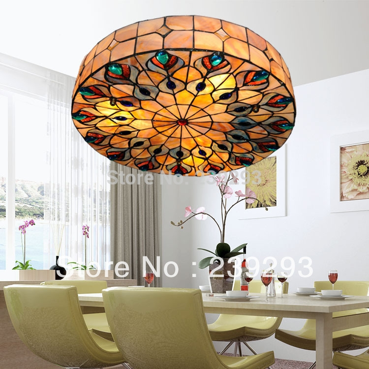 Amazing High Quality Shell Light Shades Within Online Buy Wholesale Tiffany Ceiling Shades From China Tiffany (Image 3 of 25)