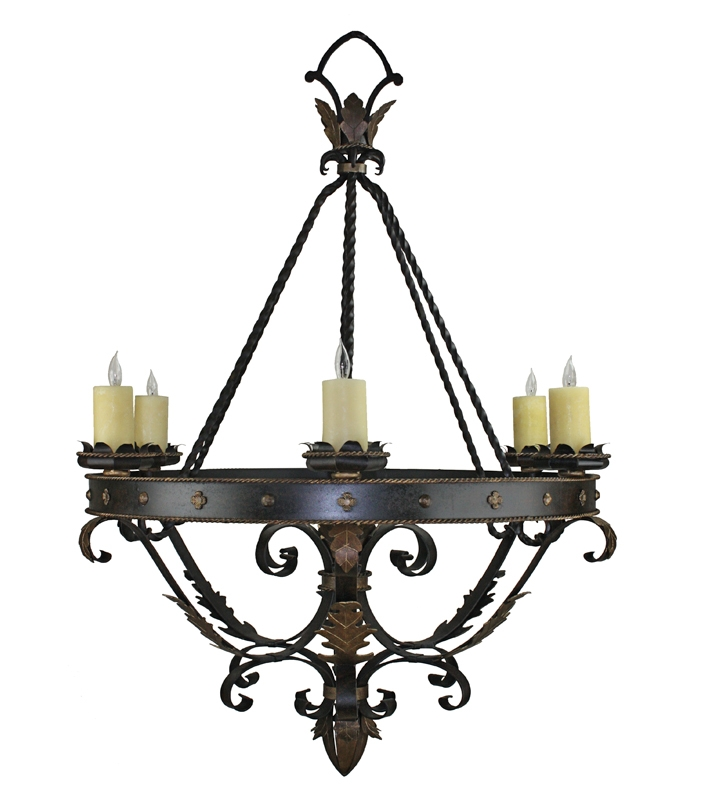 Amazing High Quality Wrought Iron Lights For Custom Wrought Iron Lights Hand Forged Chandeliers Hacienda Lights (Image 1 of 25)