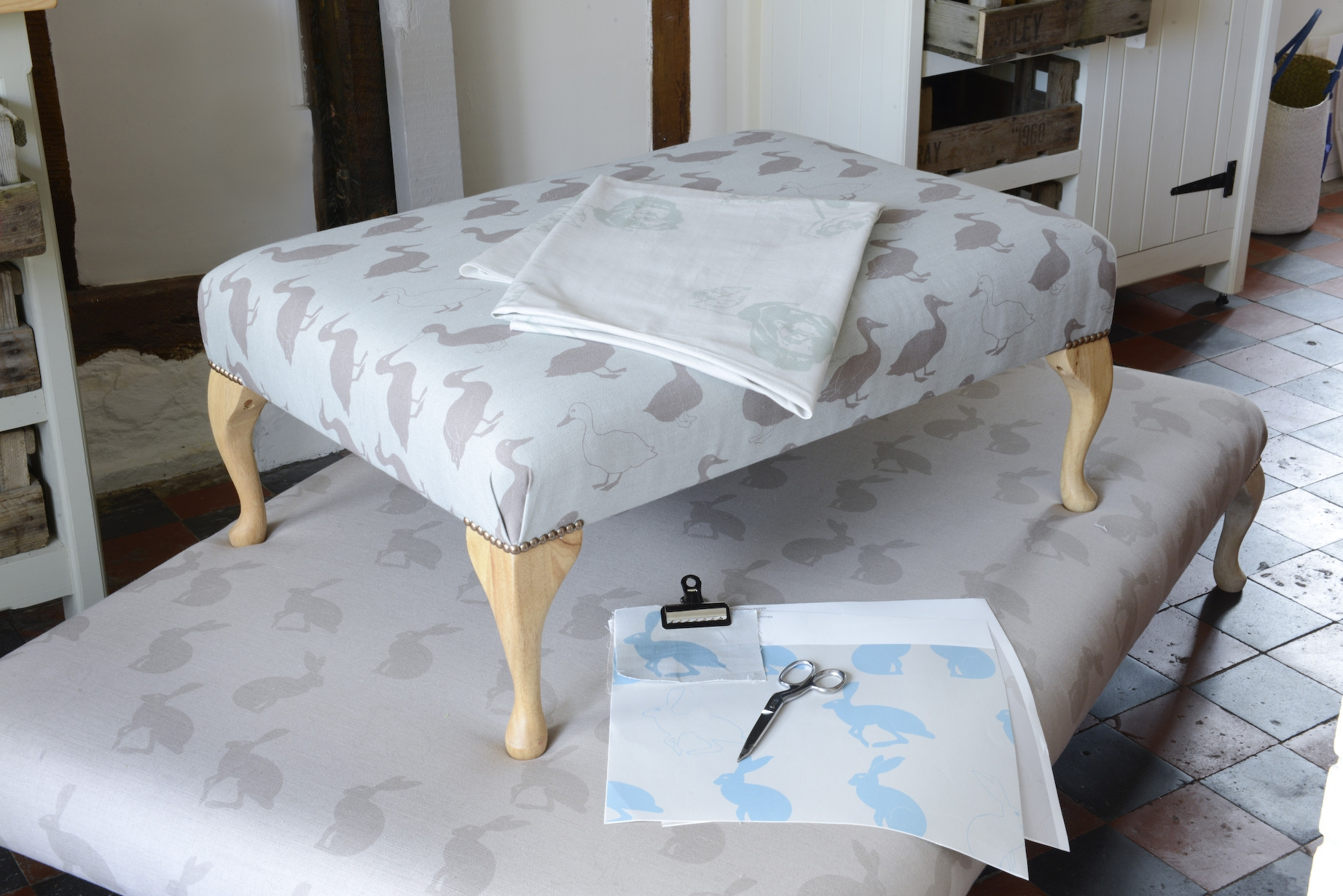 Amazing Large Upholstered Footstool Fascinating Small 10 Image Of Regarding Upholstered Footstools (Image 1 of 15)