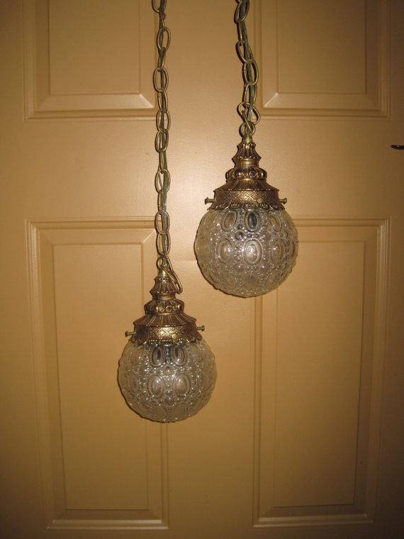 Amazing Latest Double Pendant Lights Within Round Glass Globe Double Pendant Light Hanging Pendant Light (Image 2 of 25)