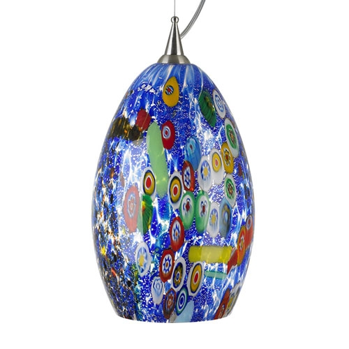 Amazing Latest Murano Glass Mini Pendant Lights With Blue Murano Glass Mini Pendant Bellacor (Image 2 of 25)