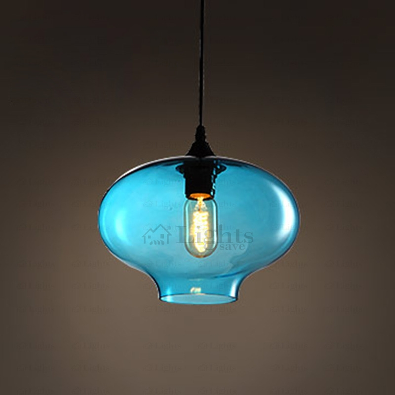 Amazing Latest Turquoise Blue Glass Pendant Lights Inside Blue Color Hand Blown Glass Pendant Lights Industrial (Image 2 of 25)