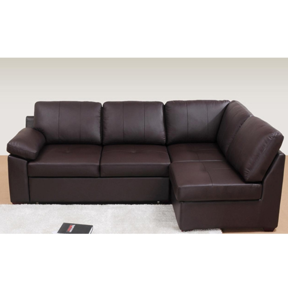 Amazing Leather Corner Sofa Bed 3691 Furniture Best Furniture Inside Leather Corner Sofa Bed (Image 1 of 15)