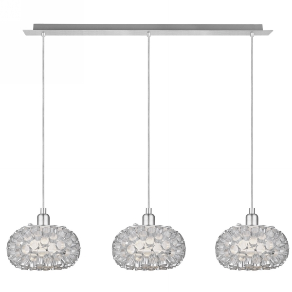 Amazing New 3 Light Pendants With Eglo Eglo 89064 Rebell Adjustable 3 Light Ceiling Light Pendant In (Image 3 of 25)