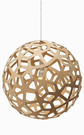 Amazing New Coral Replica Pendant Lights With Regard To David Trubridge Modern Ceiling Light (Image 2 of 25)