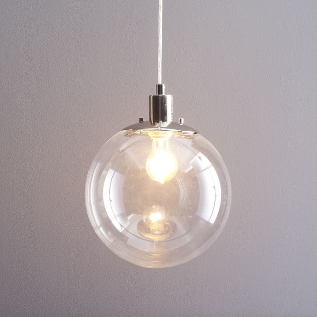 Amazing New Globe Pendant Light Fixtures Throughout Glass Globe Pendant Light (Image 2 of 25)