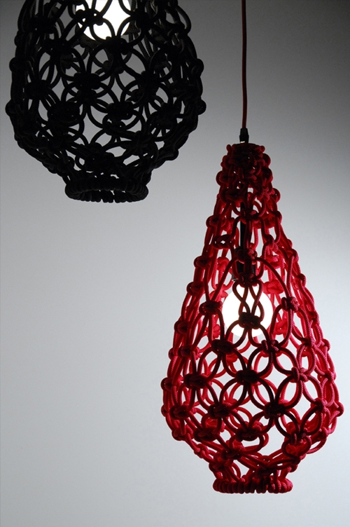 Amazing New Macrame Pendant Lights Intended For Macrame Light Shade Satelight Knot Love Pinterest Macrame (Image 1 of 25)