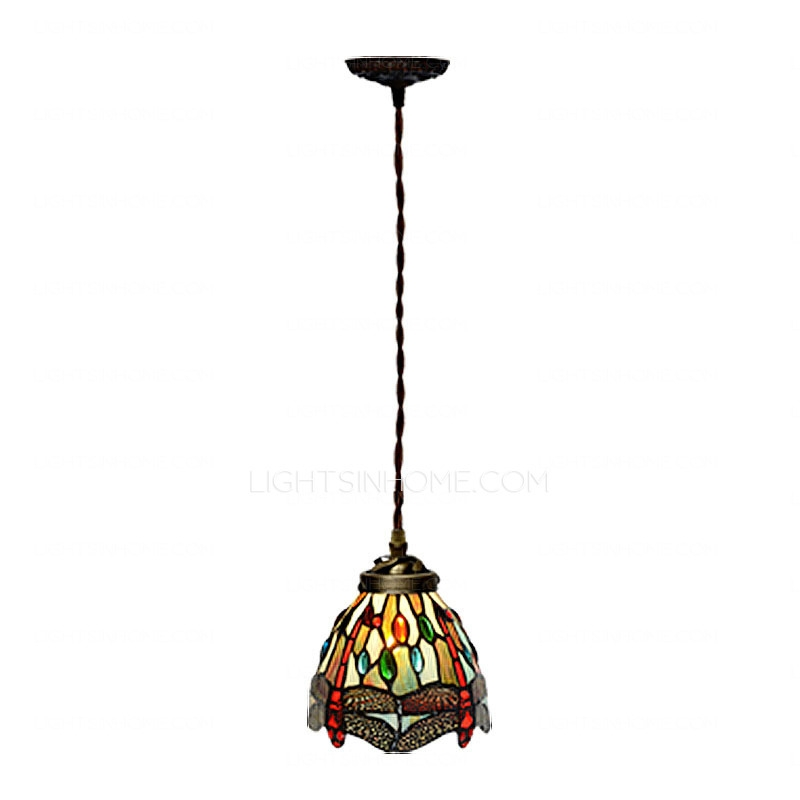 Amazing New Stained Glass Pendant Light Patterns For Designer Dragonfly Pattern E26e27 Tiffany Mini Pendant Light (Image 2 of 25)