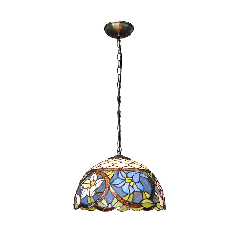 Amazing New Stained Glass Pendant Light Patterns Regarding Popular Stained Glass Lamp Patterns Buy Cheap Stained Glass Lamp (Image 3 of 25)