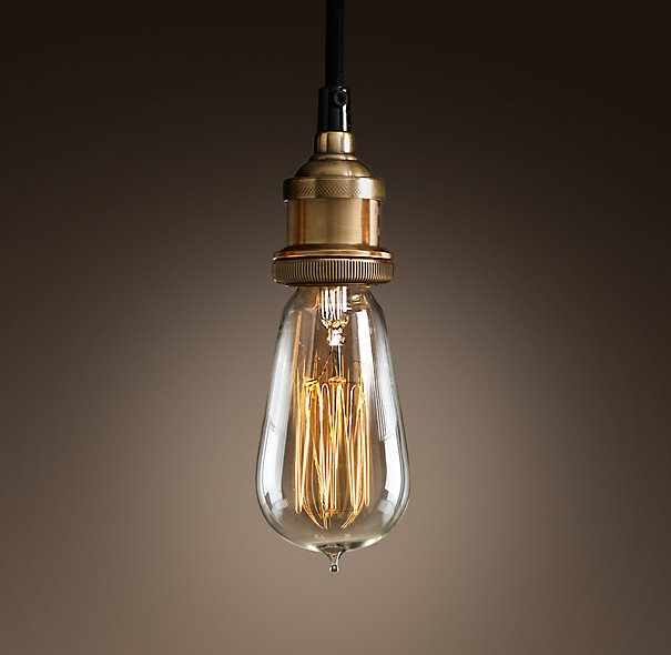 Amazing Popular Bare Bulb Hanging Light Fixtures With Of All Plain Edison Bulb Pendants This Brass Socketblack Cloth (Image 1 of 25)