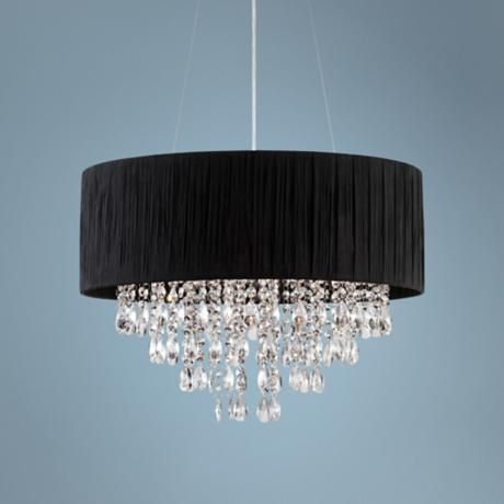 Amazing Popular Black Pendant Light With Crystals For 19 Best My Style Images On Pinterest (Image 2 of 25)