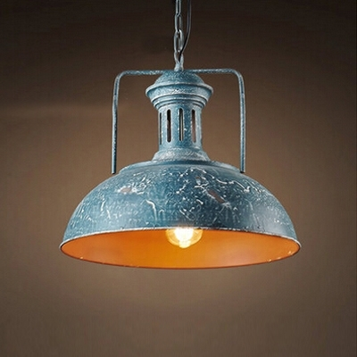 Amazing Popular Blue Pendant Light Shades Within Fashion Style Blue Pendant Lights Industrial Lighting (Image 2 of 25)